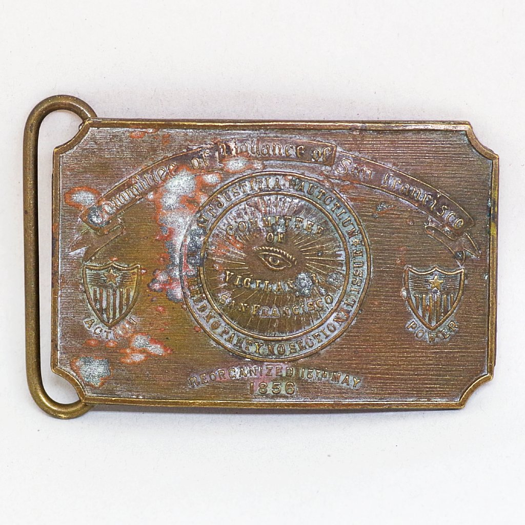 San Francisco Committee of Vigilance Belt Buckle