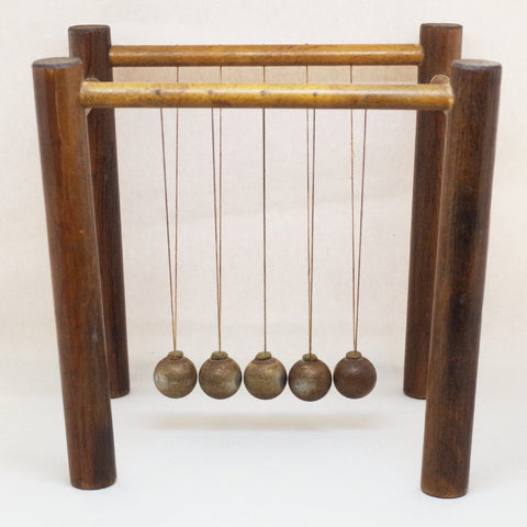 Vintage Wooden Clacking Balls Desk Toy
