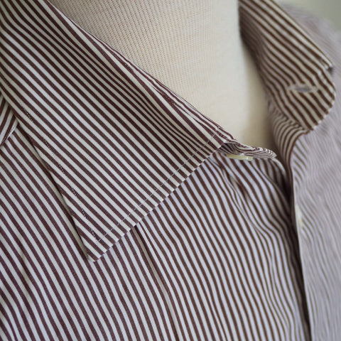 Finamore Brown Striped Shirt- 16/41