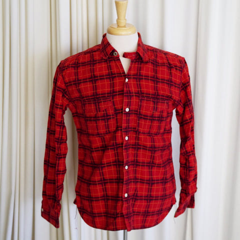 Mister Freedom Sportsman Collection Red Flannel Camp Shirt- M