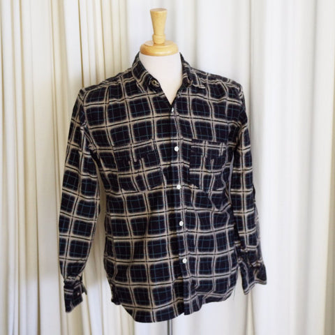 Mister Freedom Sportsman Collection Black Flannel Camp Shirt- M