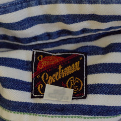 Mister Freedom x Sugar Cane Blue and White Striped Sportsman Shirt- M