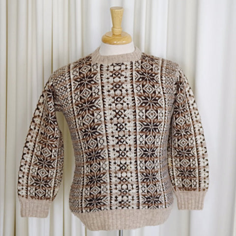 Brown Fair Isle Sweater- XS/S