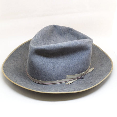 1940s Blue-Grey Felt Fedora- 6 7/8