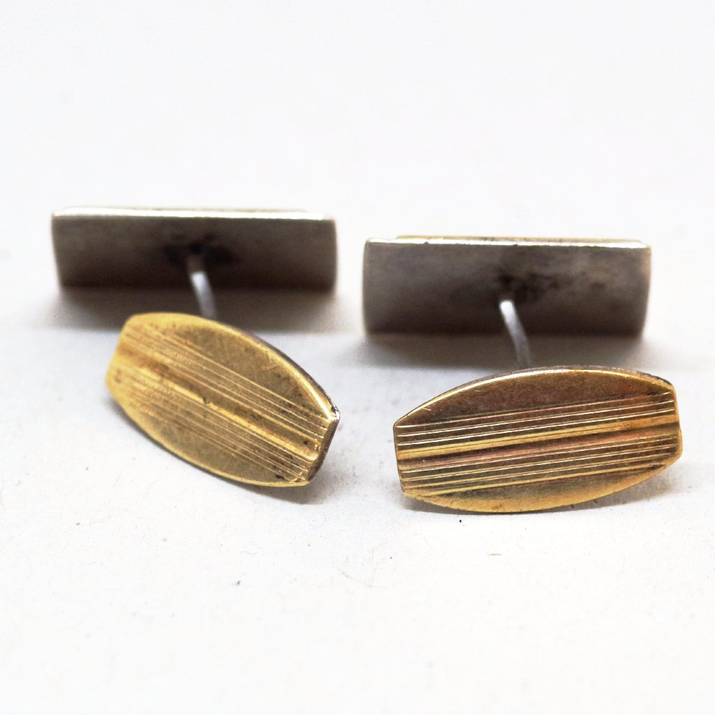 Gold on Silver Simple Cufflinks