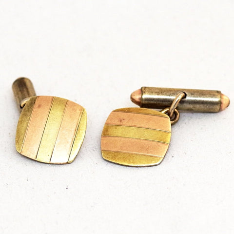 Modern Copper Stripe Cufflinks