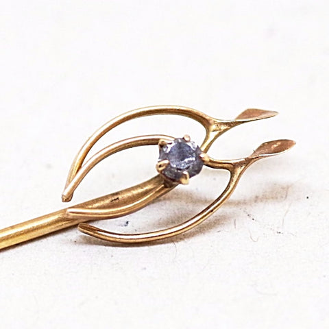 Wishbone Pair Stick Pin