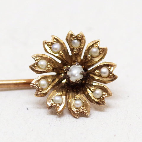 Floral Pearl Stick Pin