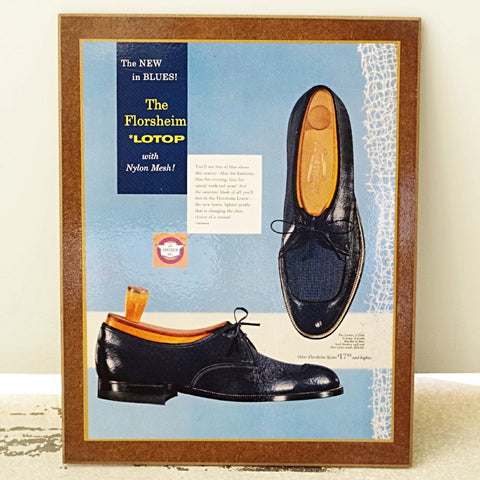 1940s Florsheim Blue Derby Advertising Standee