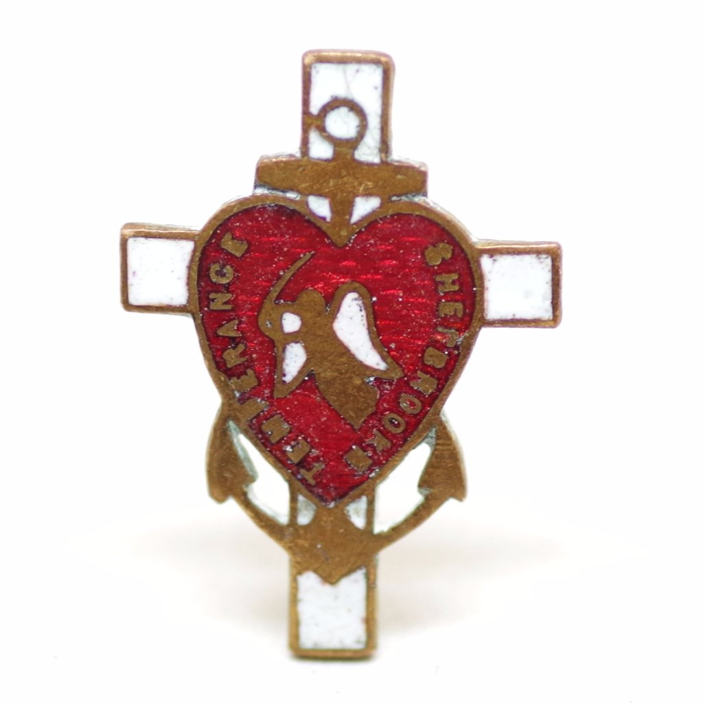 Early 20th Century Sherbrooke Temperance Cross and Anchor Pin