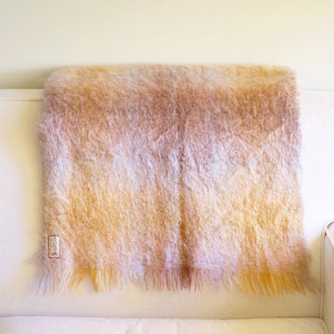Earthy Scottish Mohair Throw