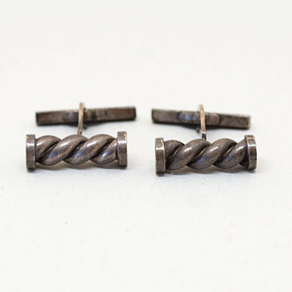 Danish Sterling Twisted Cufflinks