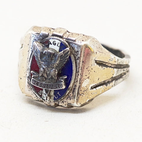 Sterling Eagle Scout Ring