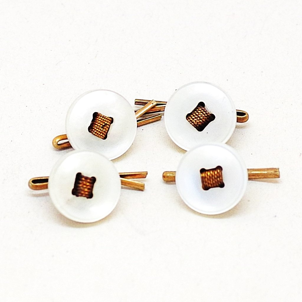 Mother of Pearl Twisted Shirt Stud Set