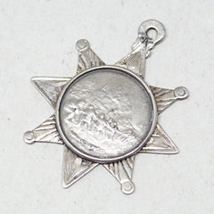 Six Pointed Silver Tug of War Medal