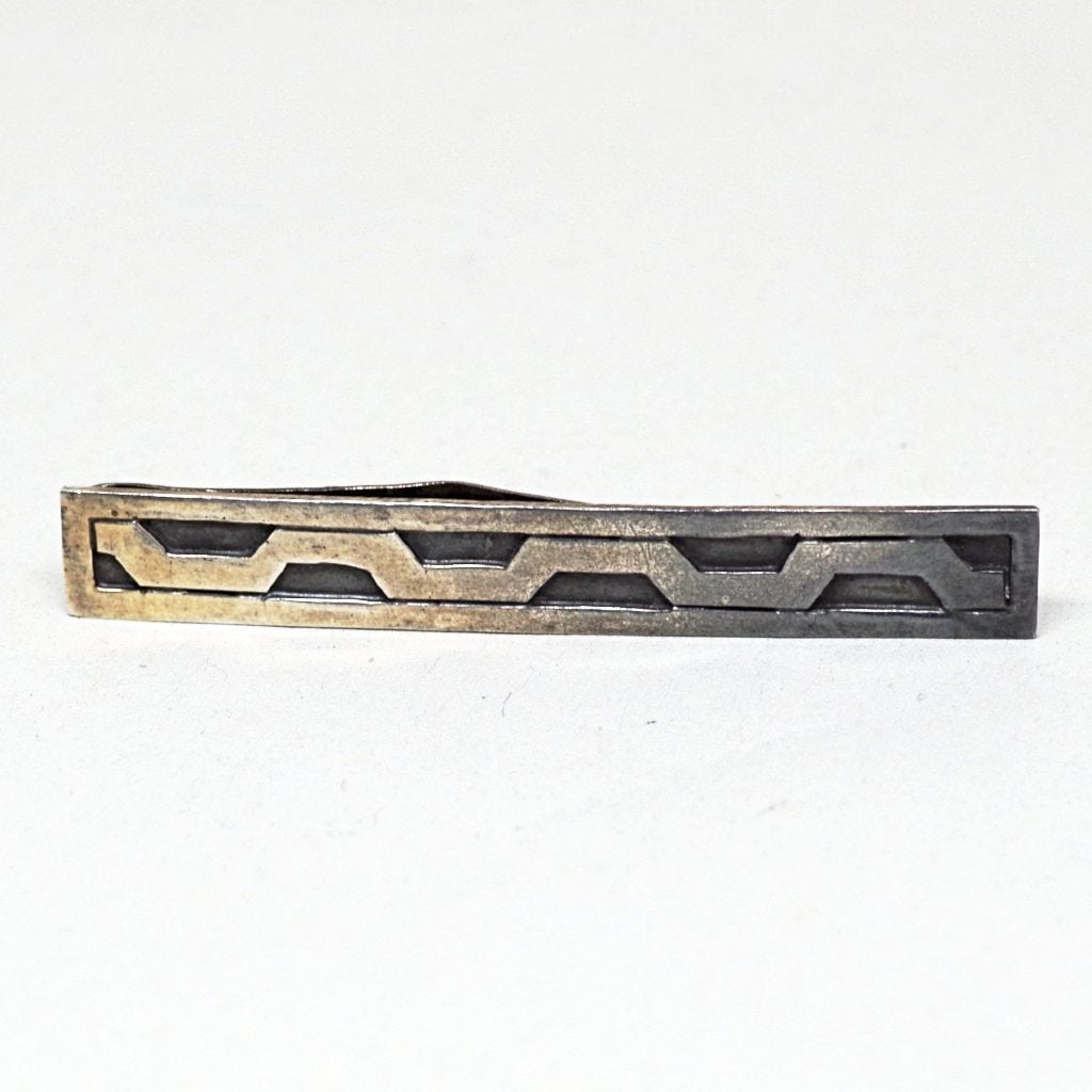 Sterling Mexican Wavy Money Clip & Tie Bar