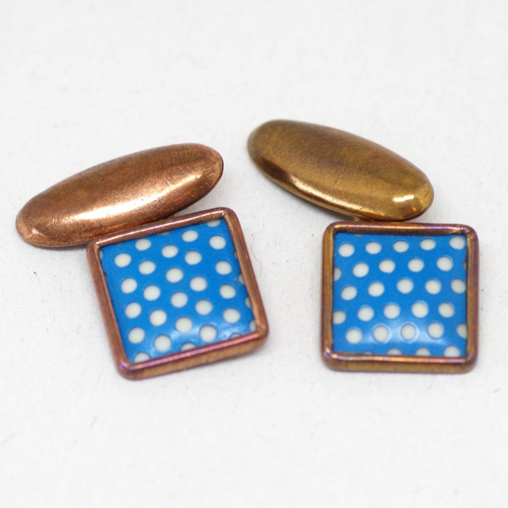 Blue Dotted Cufflinks