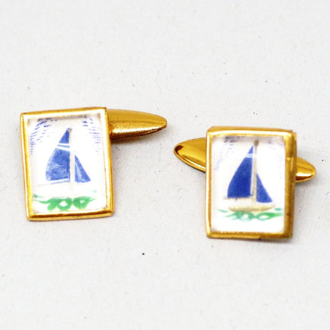 Blue Sailboat Cuffilnks
