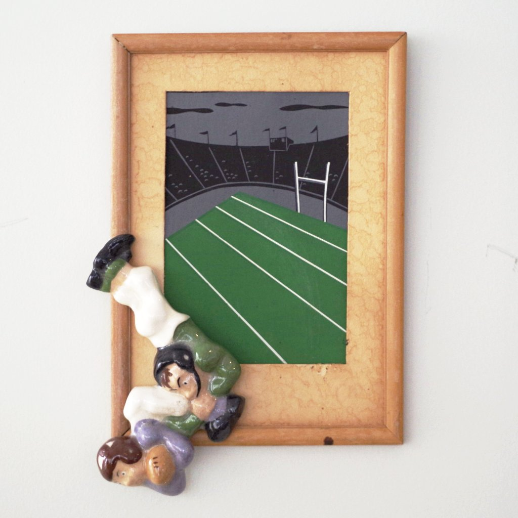 1950s Football Tackle Picture Frame – Put This On