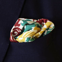 Dragon Print Cotton Pocket Square by Put This On