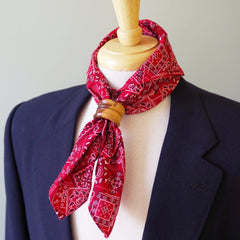 Red Multipattern Japanese Cotton Bandanna by Put This On