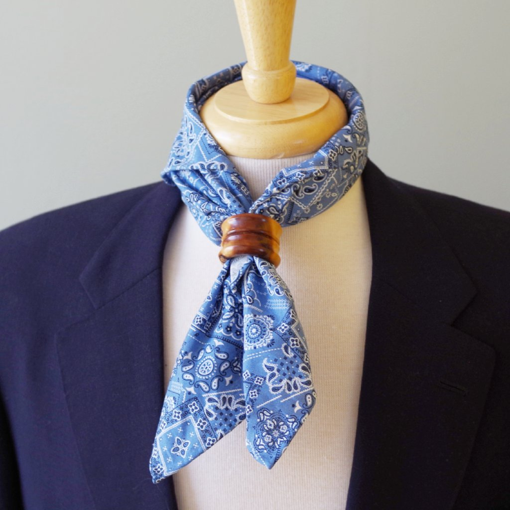 Light Blue Japanese Cotton Bandanna by Put This On