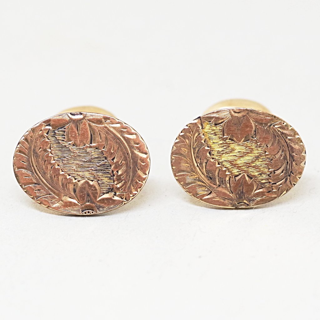 14kt Gold Floral Wreath Cufflinks