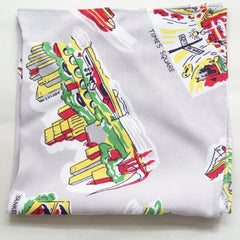 New York City Souvenir 1940s Rayon Pocket Square by Put This On