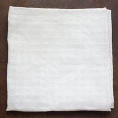 Checkerboard Woven White Linen Pocket Square by Put This On