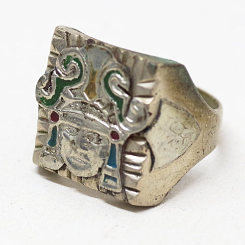 Mexican Silver Aztec Ring
