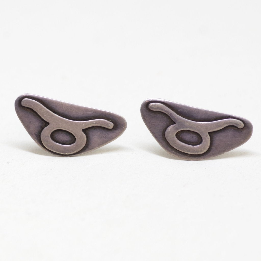 Wide Sterling Abstract Cufflinks