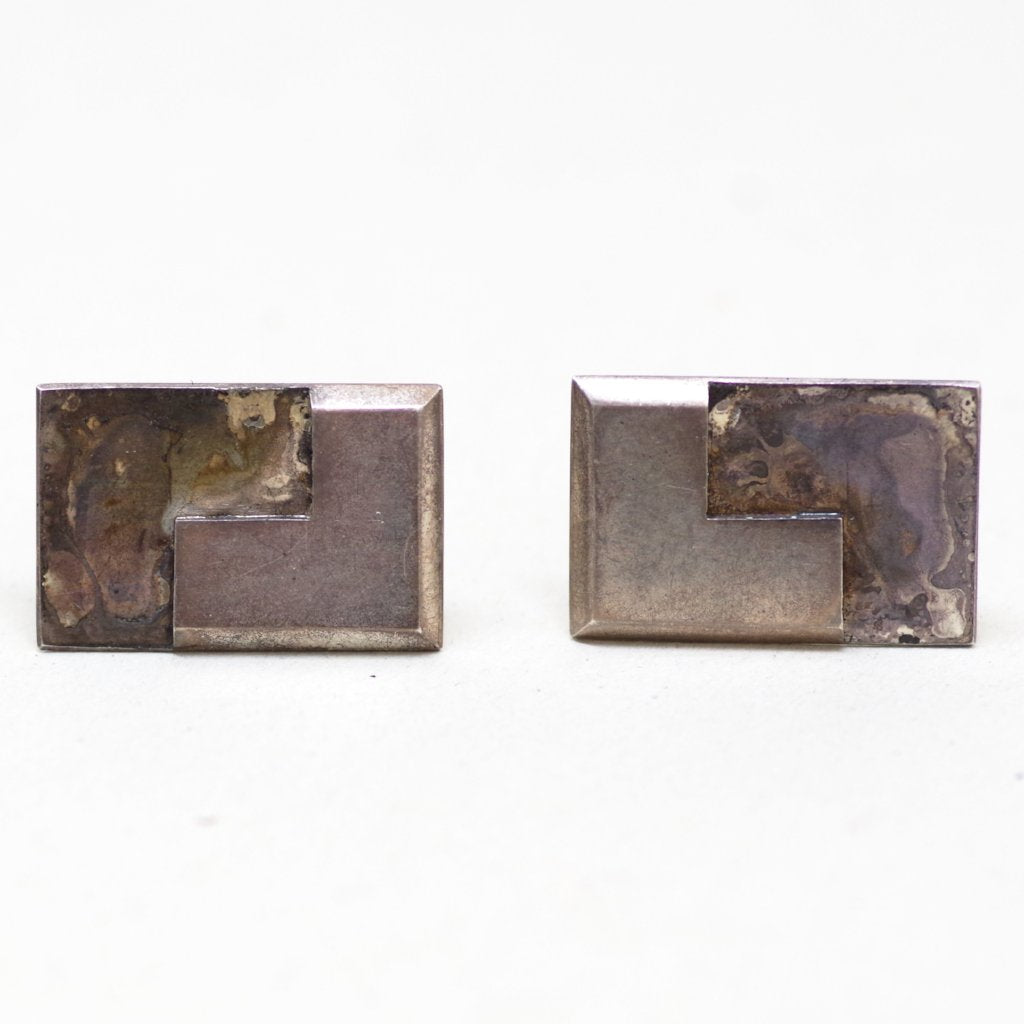 Sterling Taxco Right Angle Cufflinks