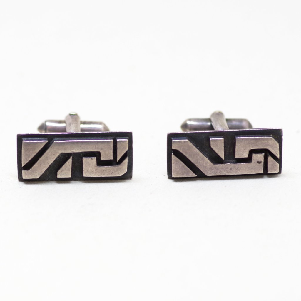 Mexican Silver Angular Cufflinks