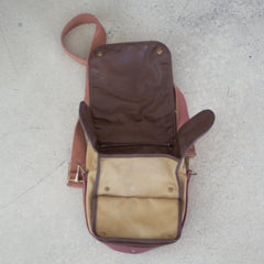Vintage Canvas and Leather Shoulder Bag