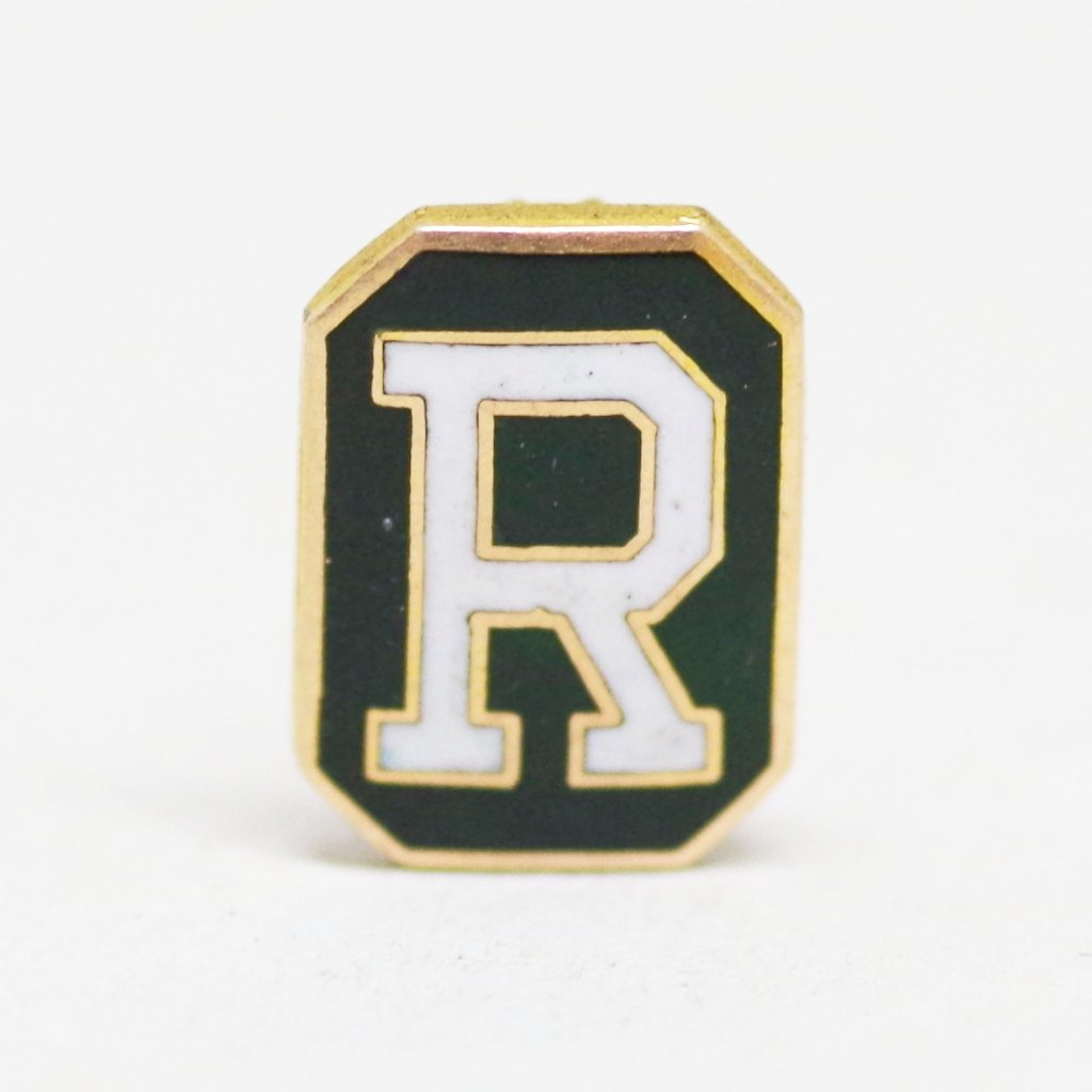 "Dark Green ""R"" Pin"