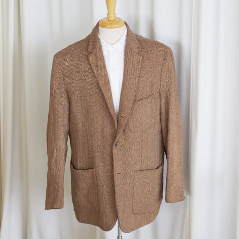 Cotton Herringbone Ralph Lauren Sport Coat- XL