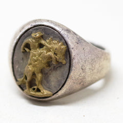 Sterling Bucking Bronco Ring