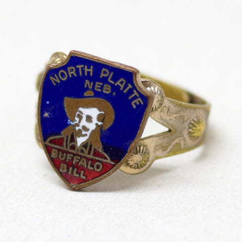 North Platte Buffalo Bill Adjustable Souvenir Ring