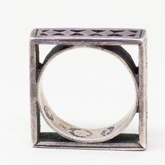 Taxco Sterling Silver Square Ring