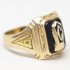 1937 Gold C High School Ring