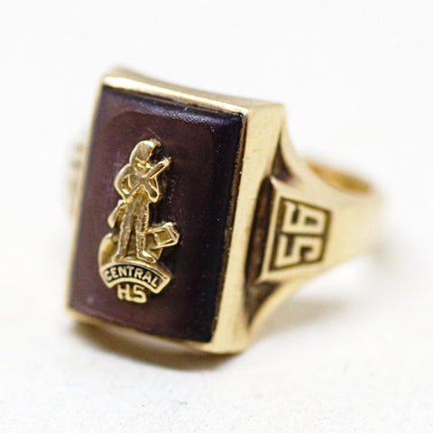 1956 Gold Central High School Ring