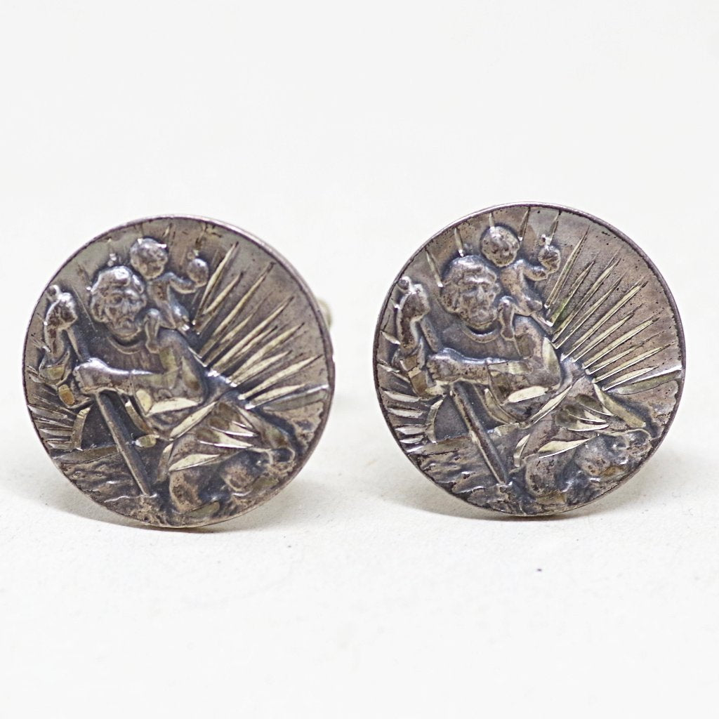 St. Cristopher's Cufflinks for Travelers