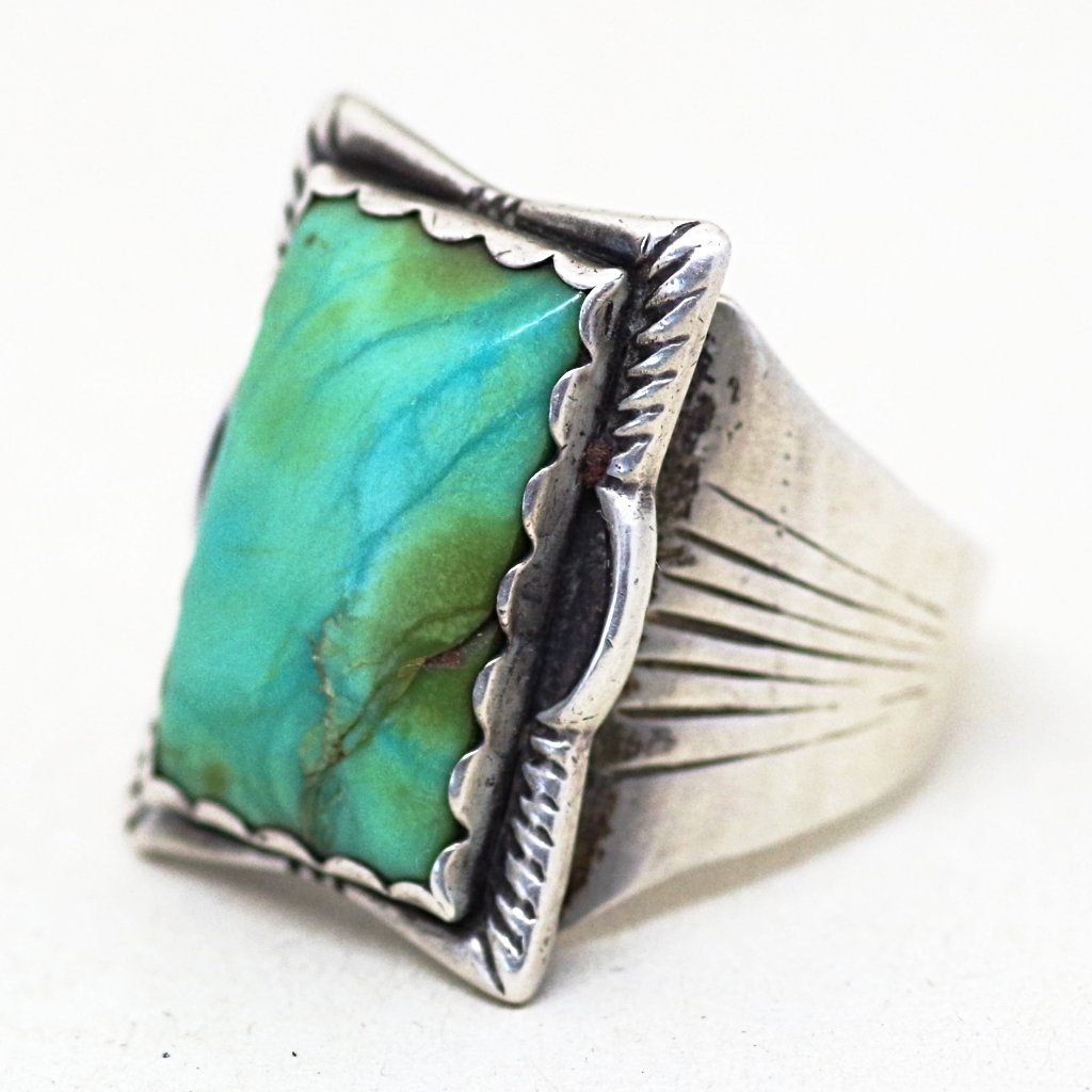 Old Pawn Silver & Turquoise Ring