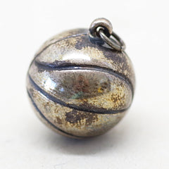 Sterling 1944 Basketball Charm