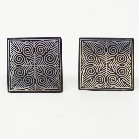 Black Swirling Cufflinks