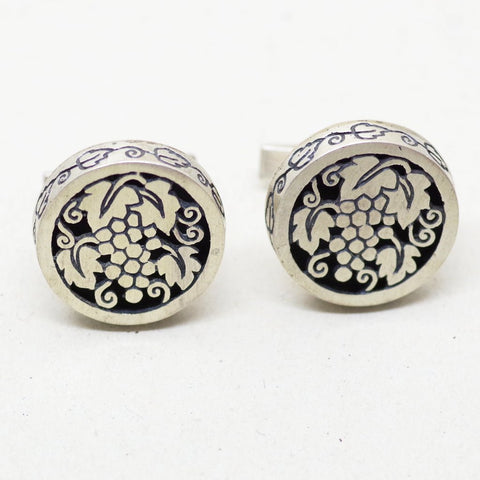 Sterling Grape Cufflinks