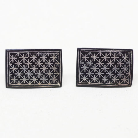 Black Crosses Cufflinks