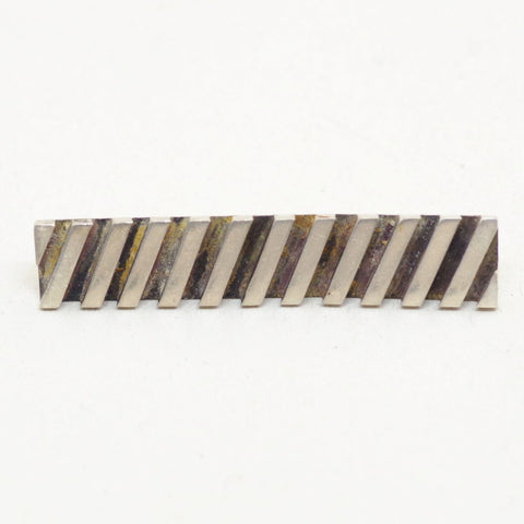Modernist Sterling Diagonal Lined Money Clip