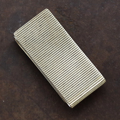 Zig Zag Grooved Sterling Money Clip by Tiffany & Co.