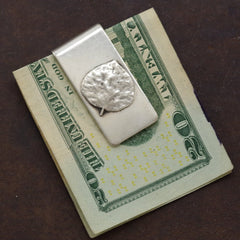 Sterling Leaf Money Clip